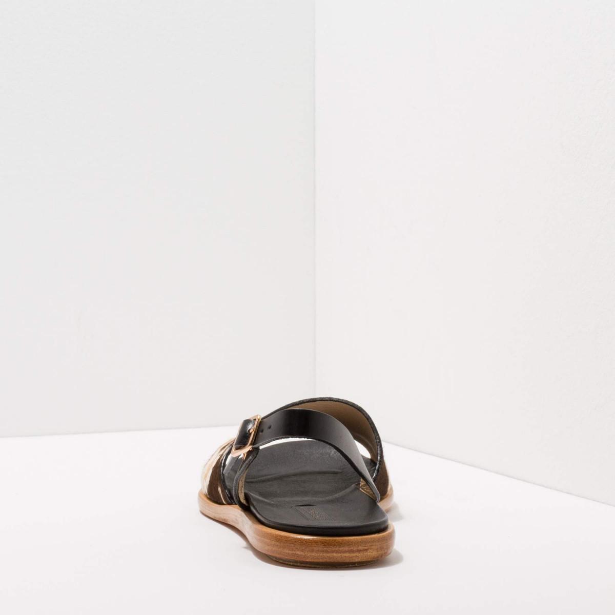 Sandales plates style minorquine en cuir - Neosens